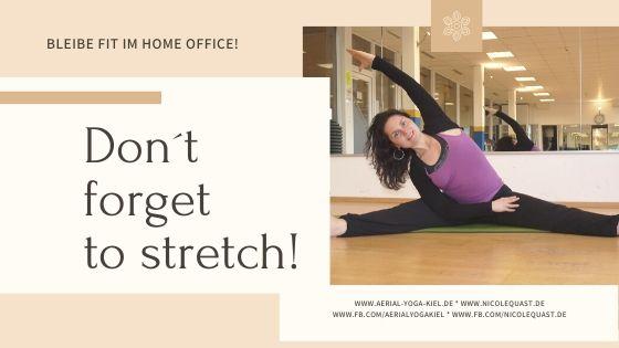 Nachricht aus dem Home Office mit Tipps für zu Hause